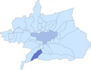 Localización de Otura en el mapa.