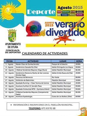 Calendario Deportes agosto