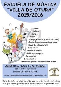 Escuela de Música Villa de Otura 2015-2016