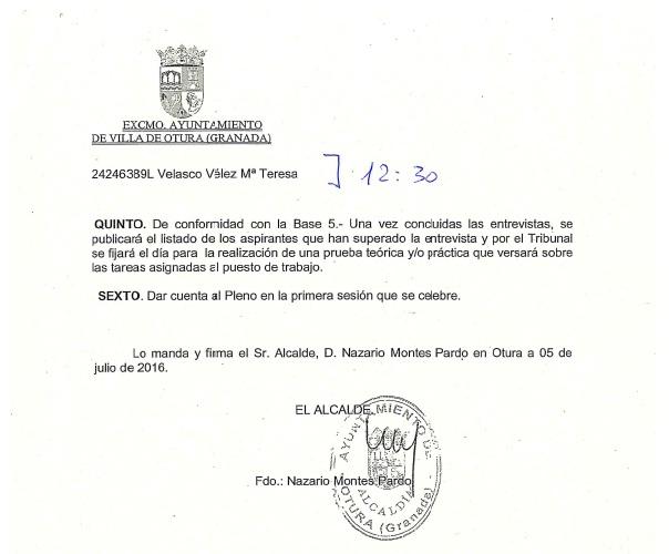 HORARIO ENTREVISTA 3