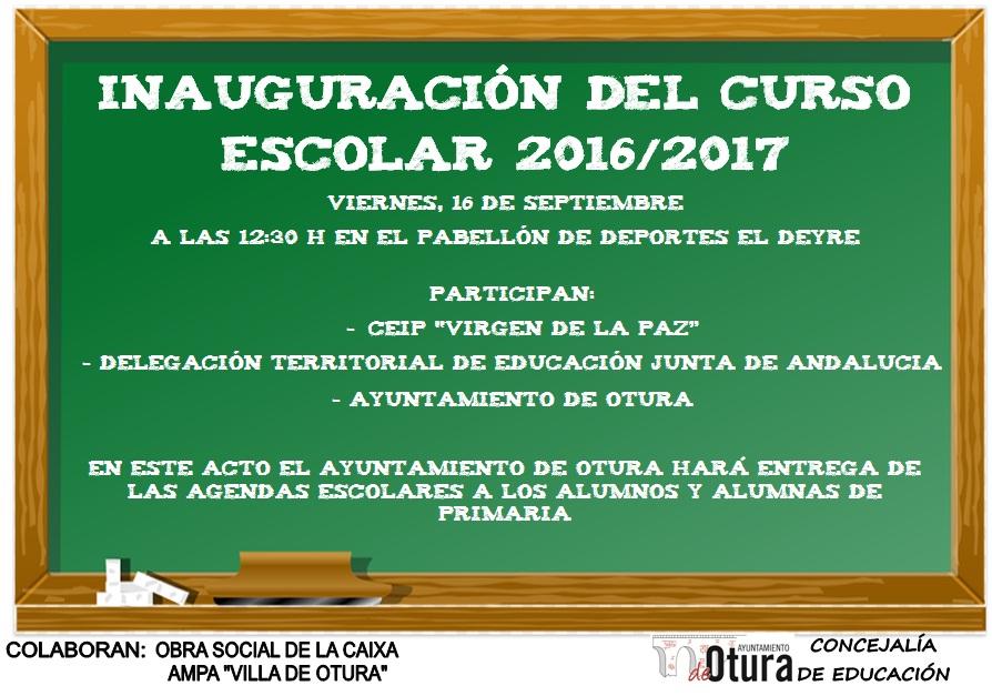CARTEL INAGURURACIÓN CURSO ESCOLAR
