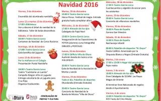 cartel actividades navidad