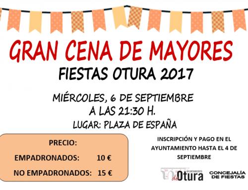 Gran cena de mayores, miércoles 6 de septiembre |Fiestas Otura 2017