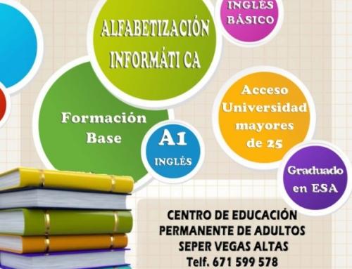 La Escuela de Adultos  de Otura ofrece la posibilidad de prepararse para el examen de A1 de inglés de la Escuela Oficial de Idiomas