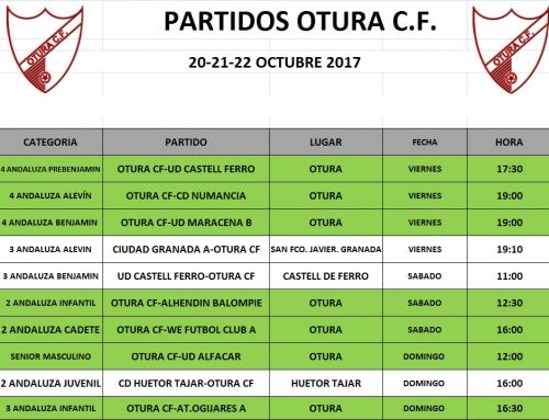 Partidos del Otura CF del 20 al 22 de octubre