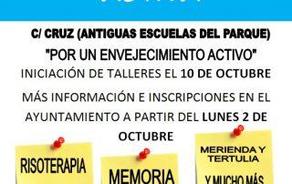 Cartel centro de participación activa
