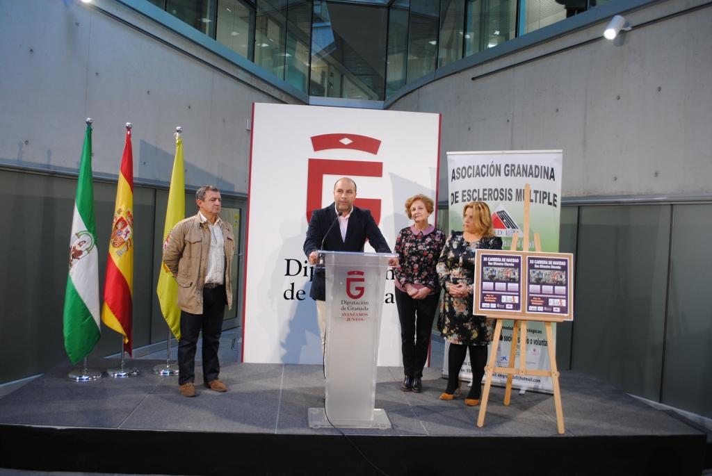 El alcalde de Otura, Nazario Montes, presenta la XII San Silvestre Otureña en Diputación