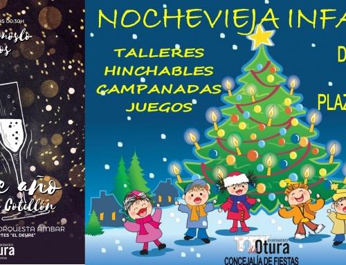 Otura dará la bienvenida al 2018 con Nochevieja Infantil por la mañana y Gran Cotillón después de las uvas