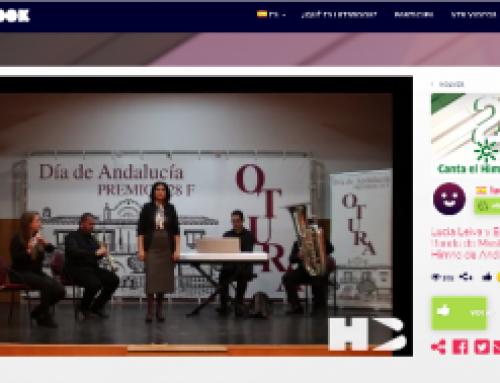 Lucía Leiva y el Ensemble de la Banda de Música Villa de Otura participan en un concurso del Himno de Andalucía de Canal Sur