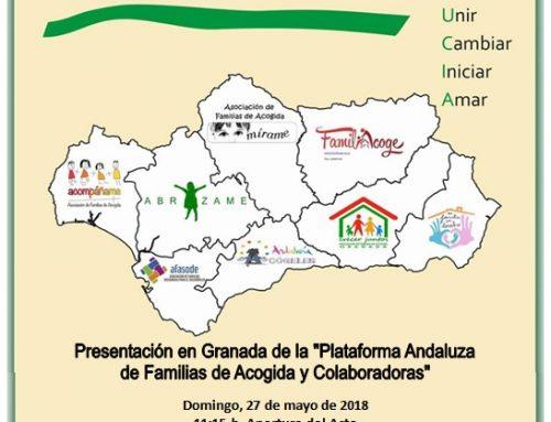 Otura acoge la presentación de la Plataforma Andaluza de Familias de Acogida y Colaboradoras