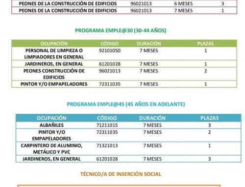 La nueva convocatoria de los planes de empleo de la Junta de Andalucía permite al Ayuntamiento de Otura contratar a 24 vecin@s del municipio
